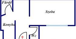 Nádor utcában eladó 34, nm-es tégla lakás!